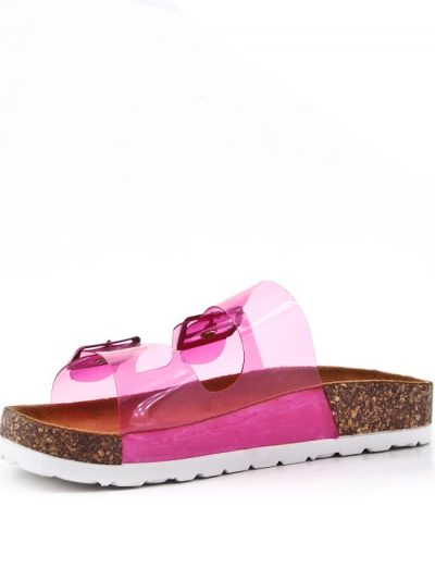 Slipper Neon Pink roze dames birkenstock schoenen bestellen