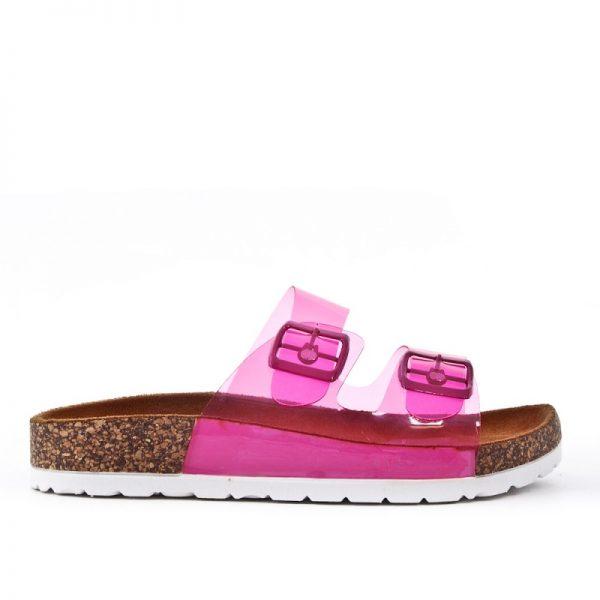 Slipper Neon Pink roze dames birkenstock schoenen kopen