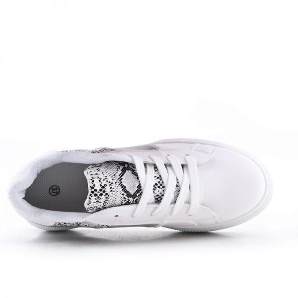 Sneaker Snake wit witte dames sneakers slangenprint fashion kopen