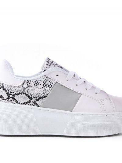 Sneaker Snake wit witte dames sneakers slangenprint grijs kopen