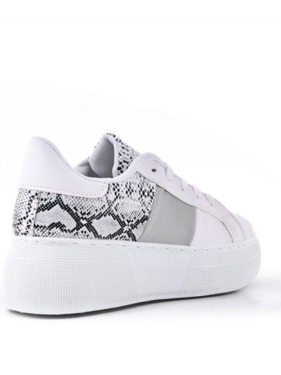 Sneaker Snake wit witte dames sneakers slangenprint gympies