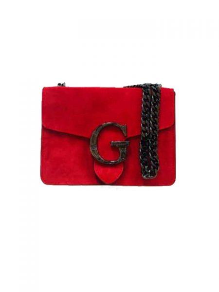 Suede-Tas-G-rood orde-leren-tassen-guiliano-luxe-it-bags-kopen-fashion kettinghengsel bestellen