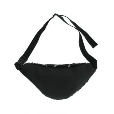 Zwarte Heuptas Pailetten zwart heuptassen fannypack festival tasjes online kopen bestellen shiney achter