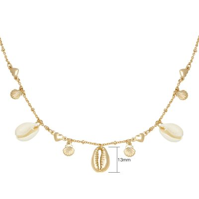 Ketting Endless Shells goud gouden ketting met schelpen metalen bedels beach boho fashion necklages kopen yehwang bestellen