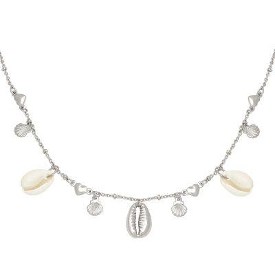 Ketting Endless Shells zilver zilveren ketting met schelpen metalen bedels beach boho fashion necklages kopen yehwang
