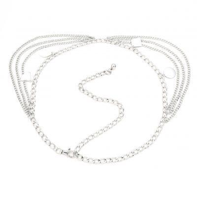 Ketting Riem Layers Silver zilver zilveren riemkettingen kettingriemen riemen dames bedels trends kopen