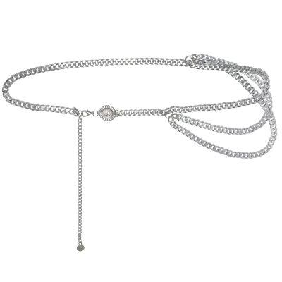 Kettingriem When In Rome zilver zilveren tailleriemen ketting riemen bedel trends trendy yehwang musthave fasion