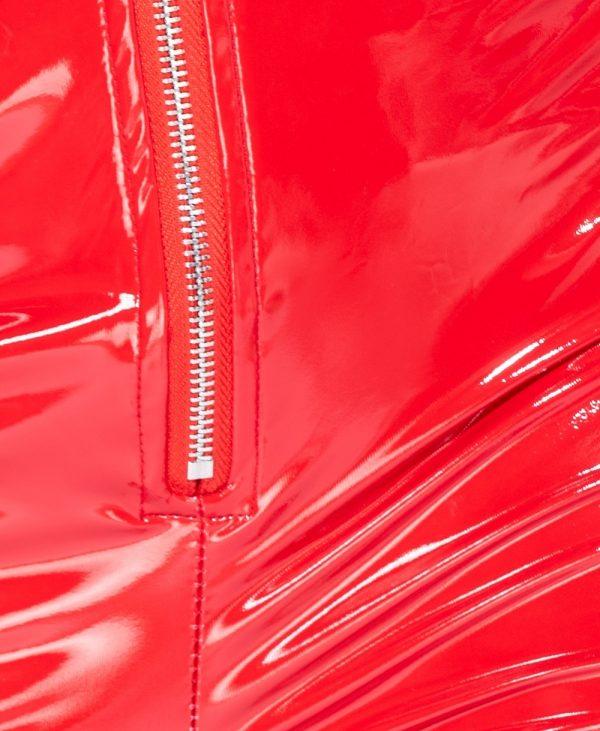 Vinyll-Legging-Zipper-rood rode -leggings-broeken-dames-zilveren-rits-voor-fashion-lak-kopen bestellen detail