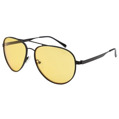 Zonnebril Chill Out Geel gele glazen zwart montuur brillen zonnebrillen trendy online kopen