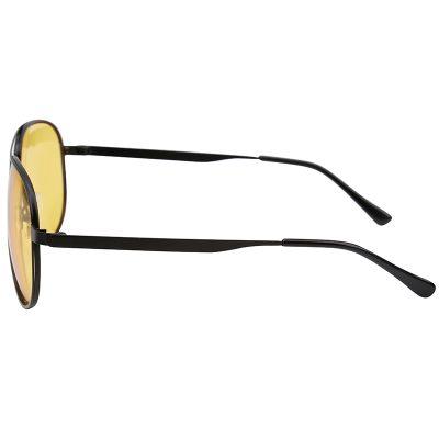 Zonnebril Chill Out Geel gele glazen zwart montuur brillen zonnebrillen trendy online kopen side
