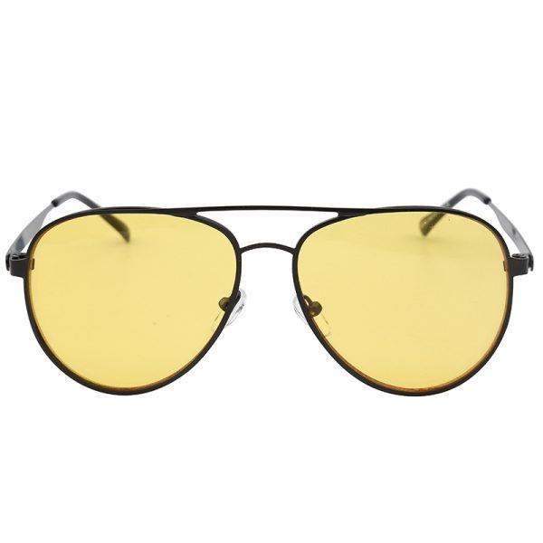 Zonnebril Chill Out Geel gele glazen zwart montuur brillen zonnebrillen trendy online kopen voor