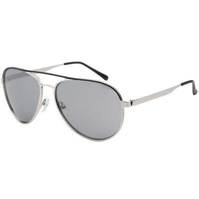 Zonnebril Chill Out Grijs grijze glazen zilver montuur brillen zonnebrillen trendy online kopen