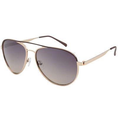 Zonnebril Chill Out bruin bruine glazen gouden montuur brillen zonnebrillen trendy online kopen