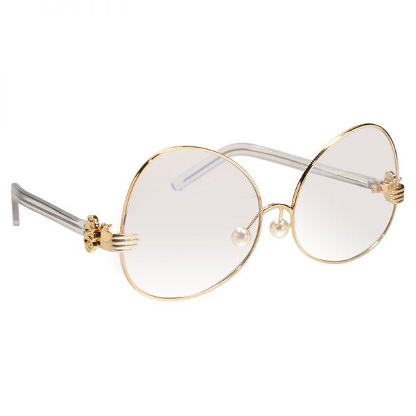 Zonnebril Clear Hands goud gouden montuur doorzichtige glazen dames brillen trendy online kopen uniek