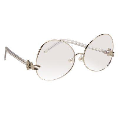 Zonnebril Clear Hands zilver zilveren montuur doorzichtige glazen dames brillen trendy online kopen uniek