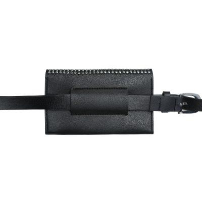 Zwarte Beltbag Trendy Studs zwart Heuptas riemtas zilveren studs festival bags tassen online kopen achter