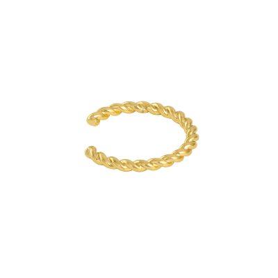 Earcuff Belle goud gouden oor machette ear cuff ear cuffs oorbellen oorbel gevlochten trendy trends earcandy kopen