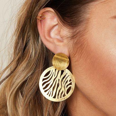 Earcuff-Double-goud gouden-oor-machette-ear-cuff-ear-cuffs-oorbellen-oorbel-gekruist-gekruisde-trendy-trends-earcandy-kopen
