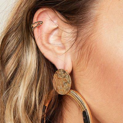 Earcuff-Hope-goud gouden-oor-machette-ear-cuff-ear-cuffs-oorbellen-oorbel-zwarte-steentjes-trendy-trends-earcandy-kopen