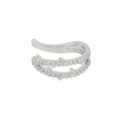 Earcuff Hope zilver zilveren oor machette ear cuff ear cuffs oorbellen oorbel zilveren steentjes trendy trends earcandy kopen