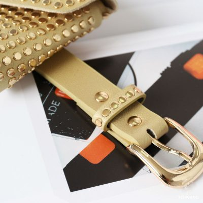 Gouden--BeltBag-Many-Studs-goud gouden-riemtassen-fannypacks-met-gouden-studs-verstelbare-riem-festival-tassen-kopen detail
