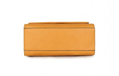 Handtas Classy Leopard geel gele dames tassen giuliano panter hengsel goud beslag tassen kopen bestellen onderkant