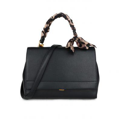 Handtas Classy Leopard zwart zwarte dames tassen giuliano panter hengsel goud beslag tassen kopen bestellen