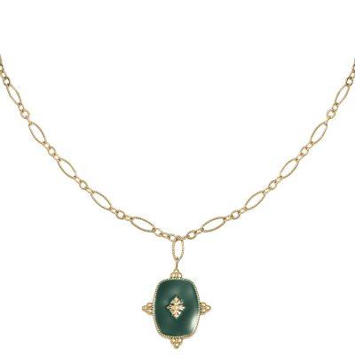 Ketting-Precious-Leaf-goud-gouden-kettingen-groen-blad-decoratie-statement ketttingen dames-kopen-yehwang-stainless-steel-sieraden-600x600