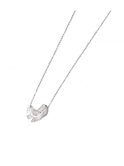 Ketting SIlver Feather zilver zilvere ketting met veer bedel trendy accessoires kettingen online kopen
