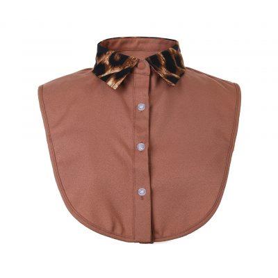 Kraagje Classy Leopard bruin bruine dames losse kraag met leopard panter print los kragen kleding fashion kopen