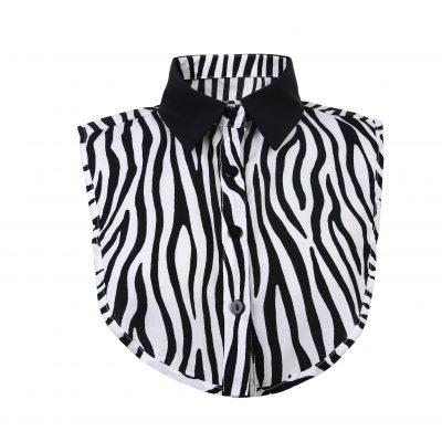 Kraagje Classy Zebra zwart wit dames losse kraag met zebraprint zebra print zwarte kraag los kragen kleding fashion kopen