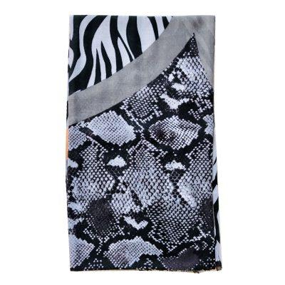 Sjaal Animal Kingdom zalm roze grijs grijze multi kleur dieren zebra snake print sjaal klassieke trendy goedkoop omslagdoeken kopen