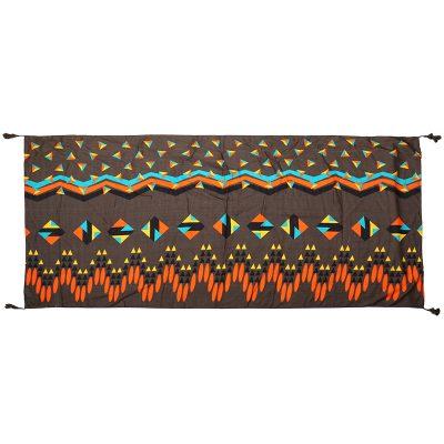 Sjaal Grapic Style bruin bruine lange trendy staal grafische gekleurde print kwasjes dames shawls omslagdoeken kopen bestellen yehwang