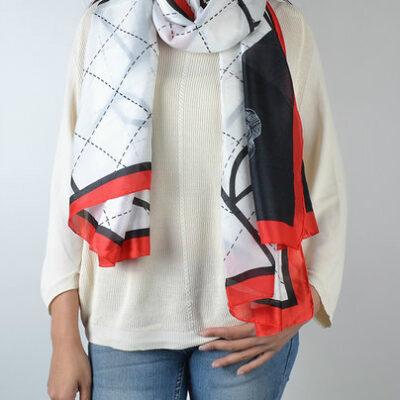 Sjaal-Perfect-lines-wit-witte-sjaal-zwart-rode-lijnen-trendy-fashion-sjaals-dames-classy-giulliano