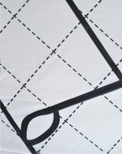 Sjaal Perfect lines wit witte sjaal zwart rode lijnen trendy fashion sjaals dames classy giulliano details