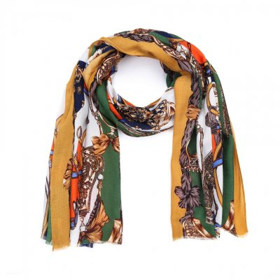 Sjaal Royal geel gele multi kleur print sjaal klassieke trendy goedkoop omslagdoeken kopen bestellen fashion