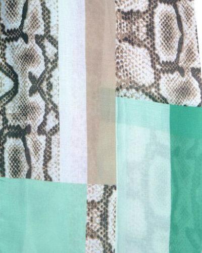 Sjaal pretty snake mint groen beige slangenprint snakeprint snake shawls grote zomer sjaals kopen bestellen