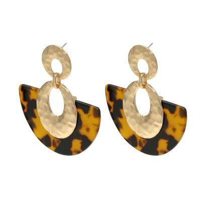 Statement oorbellen Sickle Moon bruin bruine goud gouden new fall colors dames oorbellen earrings kopen bestellen