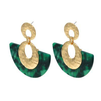 Statement oorbellen Sickle Moon groen groene goud gouden new fall colors dames oorbellen earrings kopen bestellen