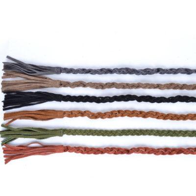 Suède Riem Braided gevlochten leren suede riemen meerdere kleuren trendy musthave fashion giulliano kopen