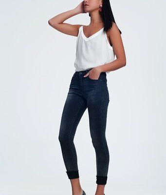 Zwarte Spijkerbroek Perfect zwart skinny highwaisted hoge taille dunne pijpen dames broeken trends kopen