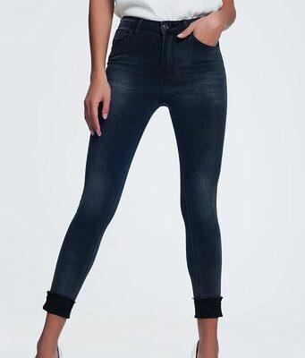 Zwarte Spijkerbroek Perfect zwart skinny highwaisted hoge taille dunne pijpen dames broeken trendy kopen