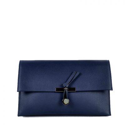 Clutch Schoudertas Mary blauw blauwe clutches schoudertassen polsbandje kunsleder trendy giuliano tassen tas goedkope kopen bestellen