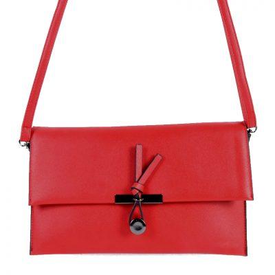 Clutch Schoudertas Mary rood rode clutches schoudertassen polsbandje kunsleder trendy giuliano tassen tas goedkope kopen
