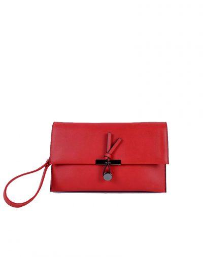Clutch Schoudertas Mary rood rode clutches schoudertassen polsbandje kunsleder trendy giuliano tassen tas goedkope kopen bestellen