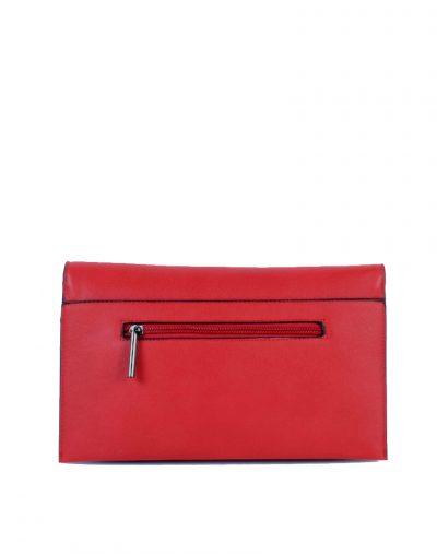 Clutch Schoudertas Mary rood rode clutches schoudertassen polsbandje kunsleder trendy giuliano tassen tas goedkope kopen bestellen achter
