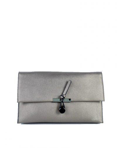 Clutch Schoudertas Mary zilver zilveren clutches schoudertassen kunsleder trendy giuliano tassen tas goedkope kopen bestellen