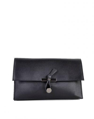 Clutch Schoudertas Mary zwart zwarte clutches schoudertassen kunsleder trendy giuliano tassen tas goedkope kopen bestellen