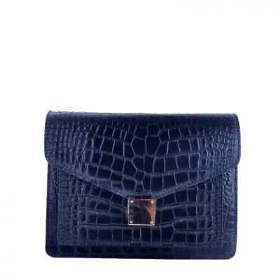 Schoudertas-Croco-Fashion-blauw blauwe-doktertas-brede-smalle-hengsel-kroko-print-goud-beslag-giuliano-leder-kopen