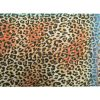 Sjaal Happy Leoparty oranje orange lange gekleurde dames sjaals met tijgerprint dierenprint leopard print kopen yehwang